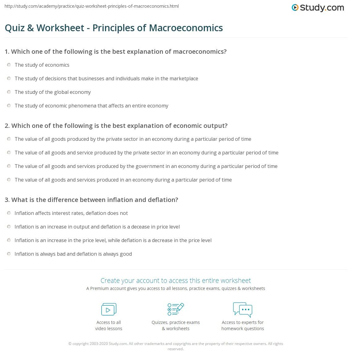 Macroeconomics Quiz Questions And Answers Top