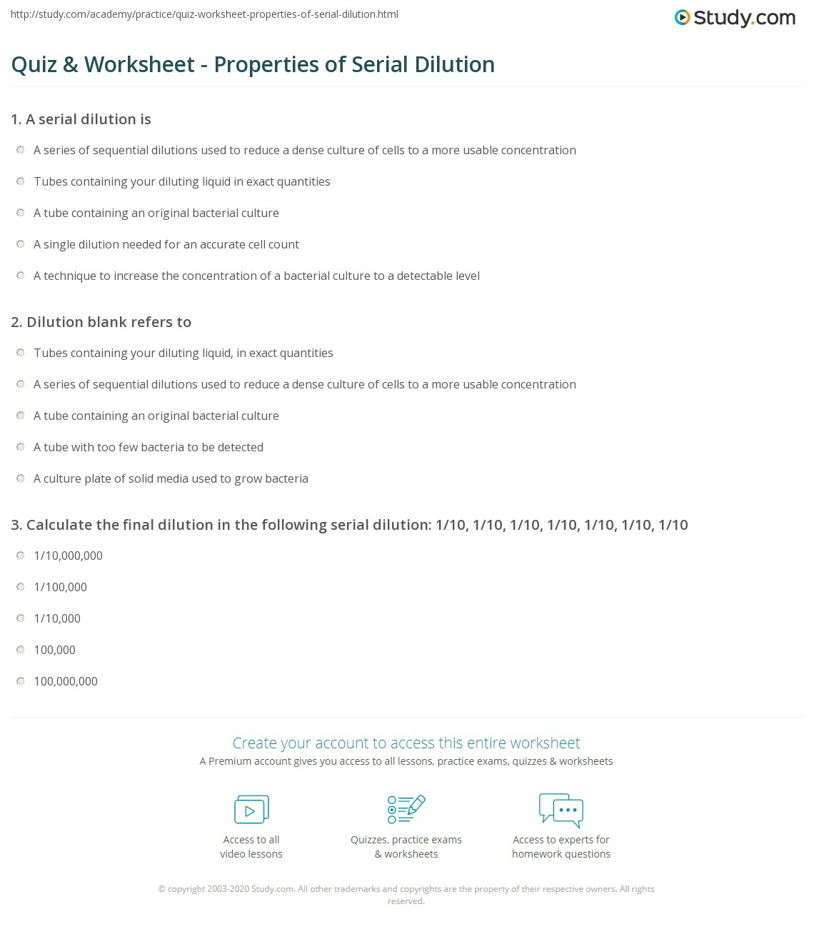 Worksheet Dilution Problems Worksheet Grass Fedjp Worksheet Study Site