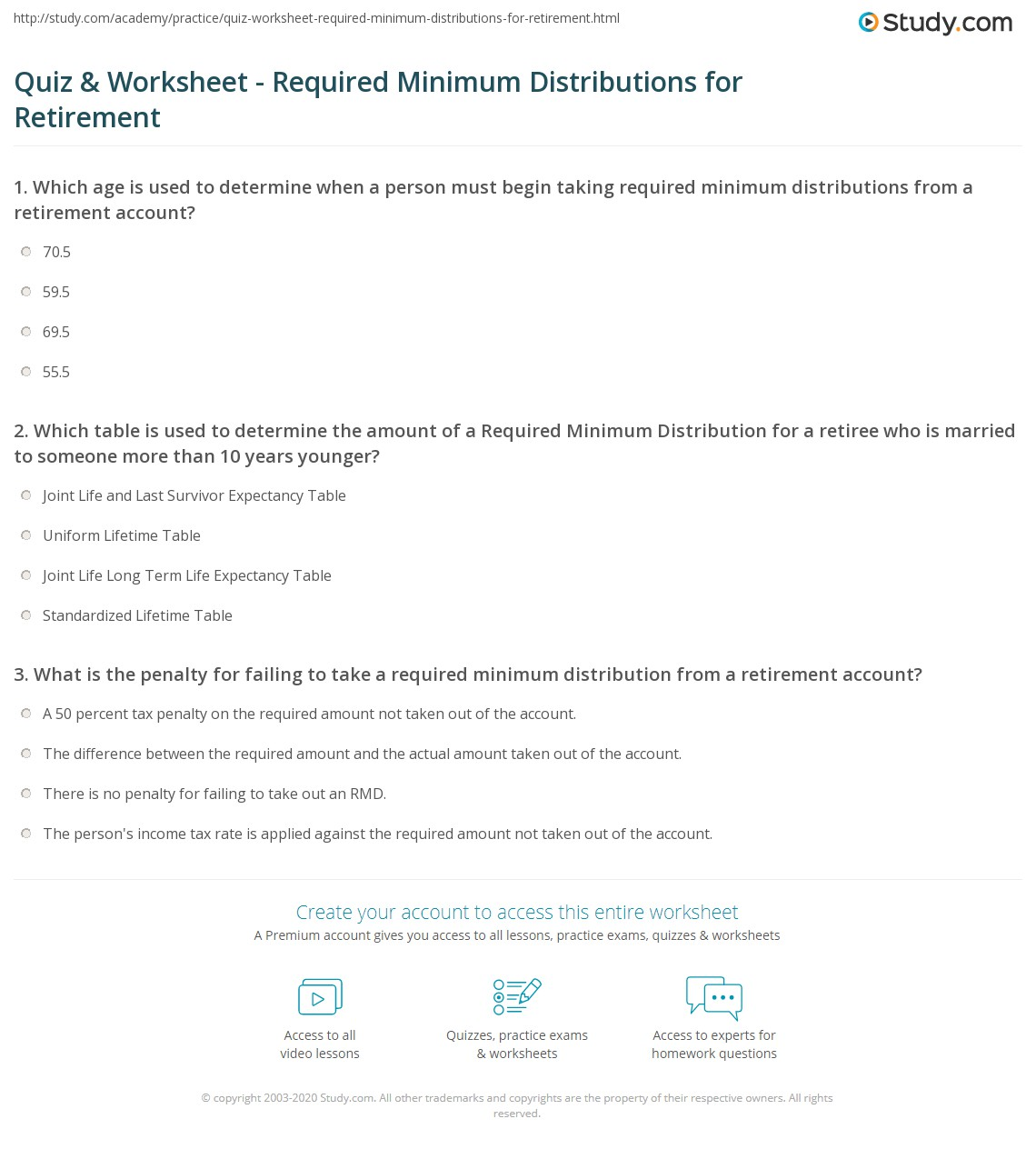 Distribution Box Plot Worksheet
