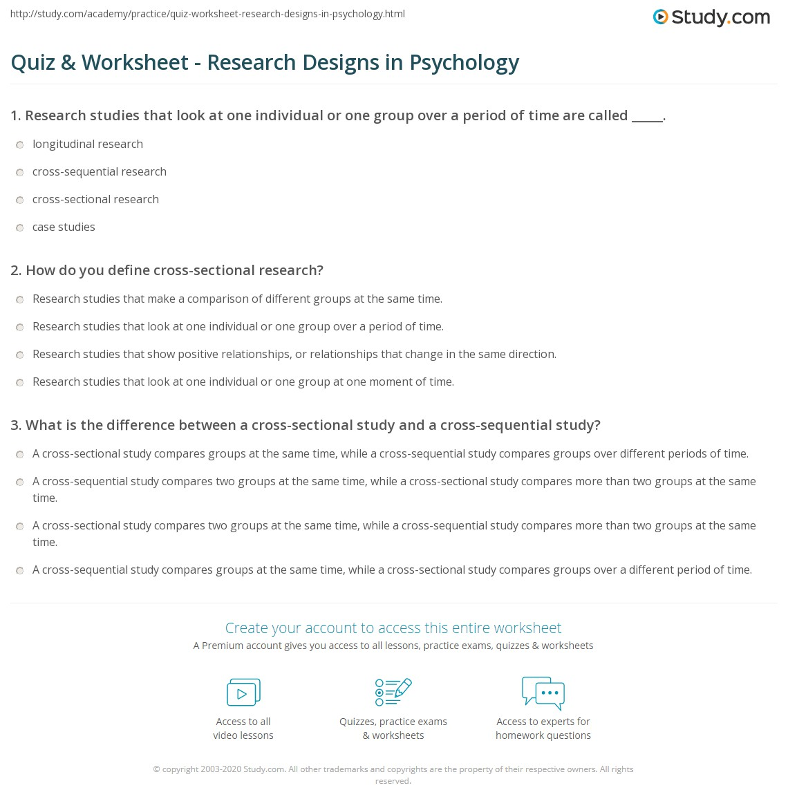 Experimental Design Worksheet Ap Psychology