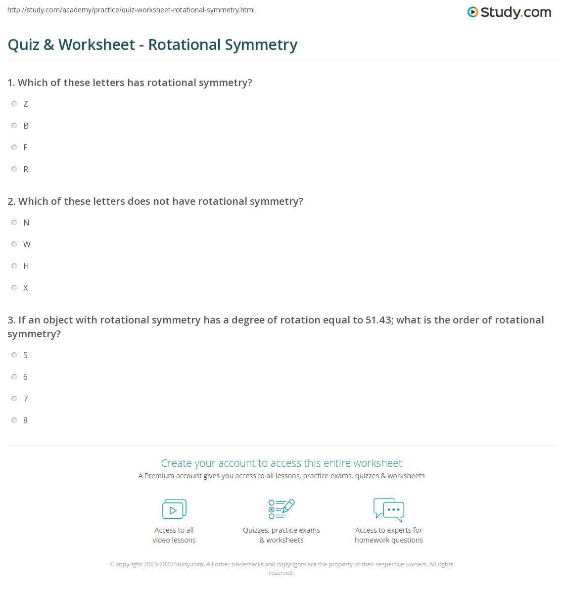Maths Symmetry Worksheets