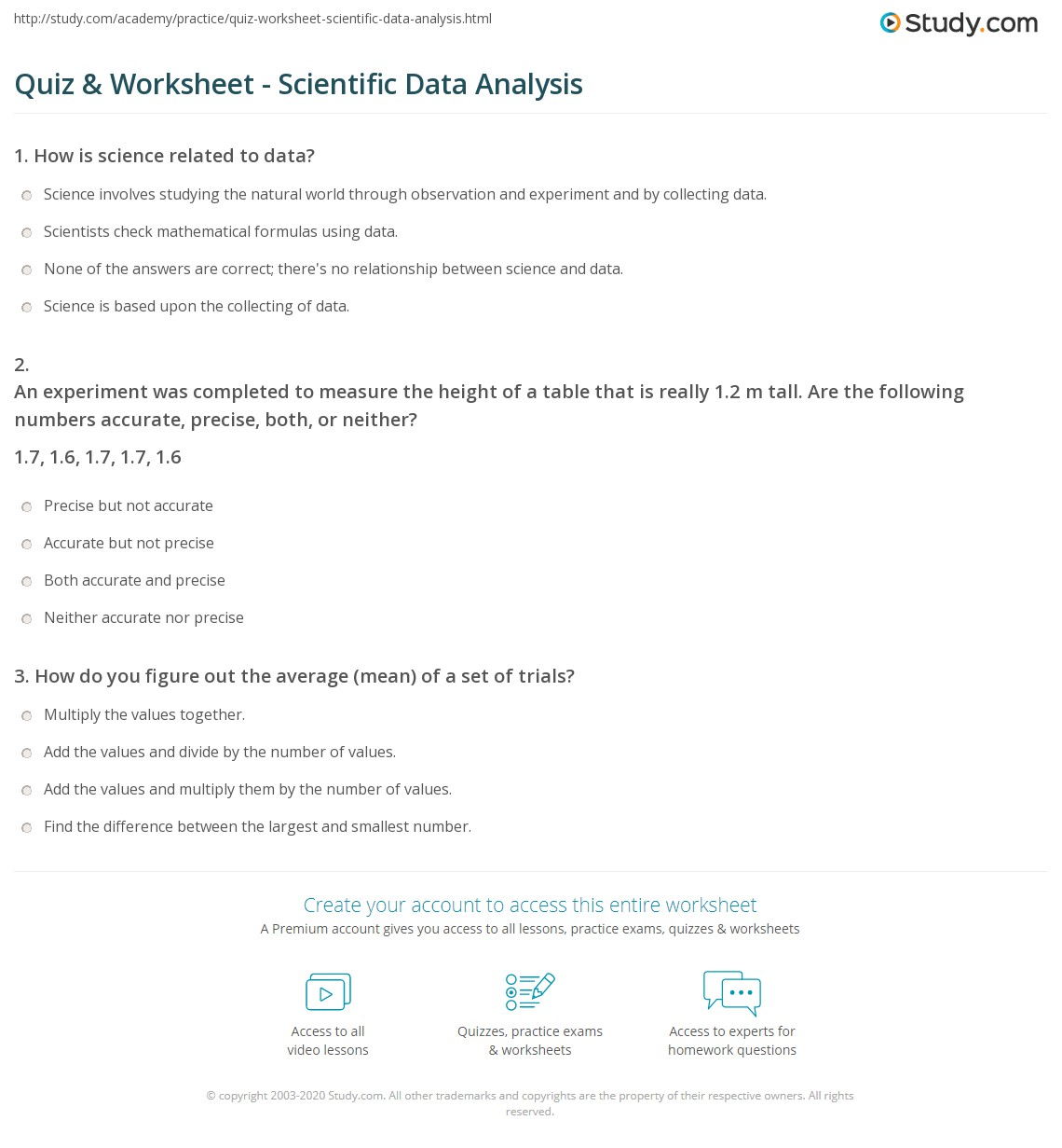 Graphing And Dataysis Worksheet Answers Key