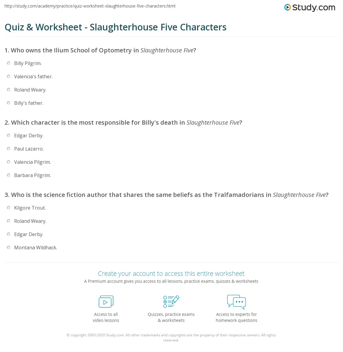 In Slaughterhouse Five Essay