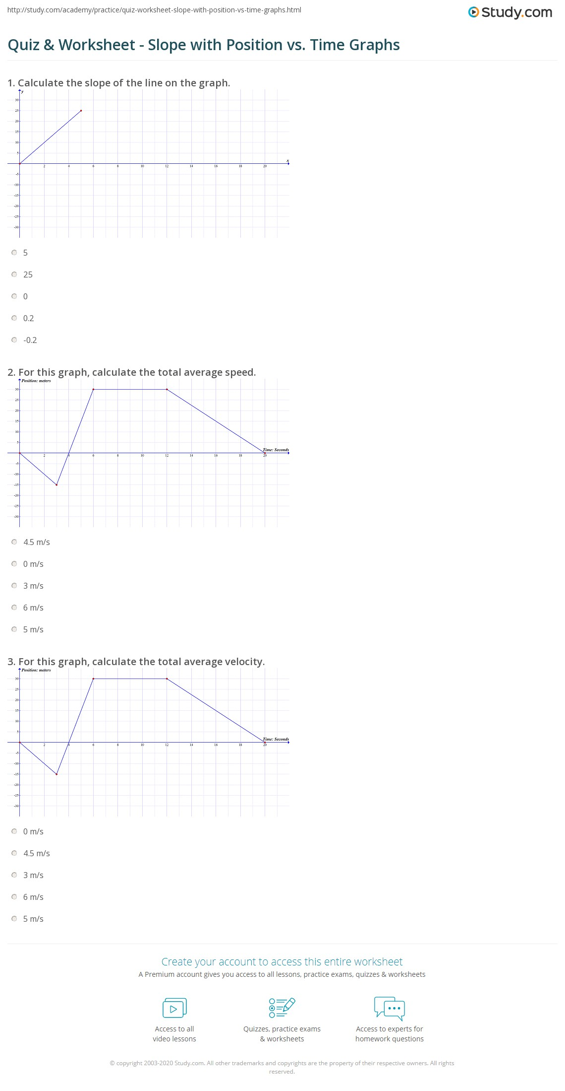 30 Graphing Speed Slope Worksheet Answers