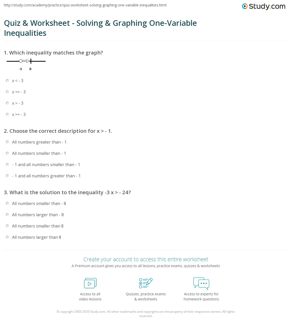 Inequalities And Their Graphs Worksheet Answers