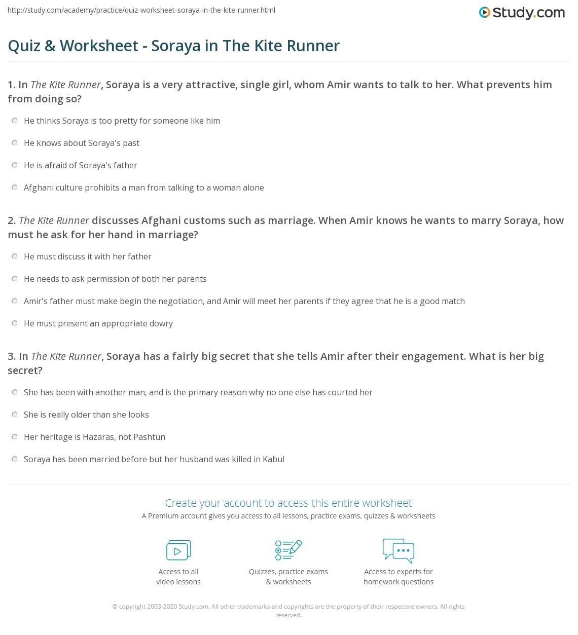 Kite Runner Characterysis Soraya