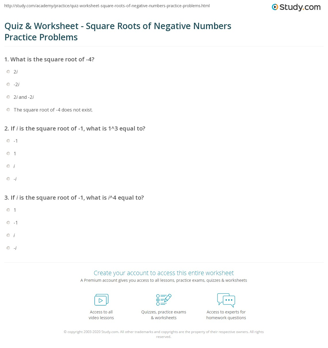 Solving Quadratic Equations By Taking Square Roots Lesson 4 1