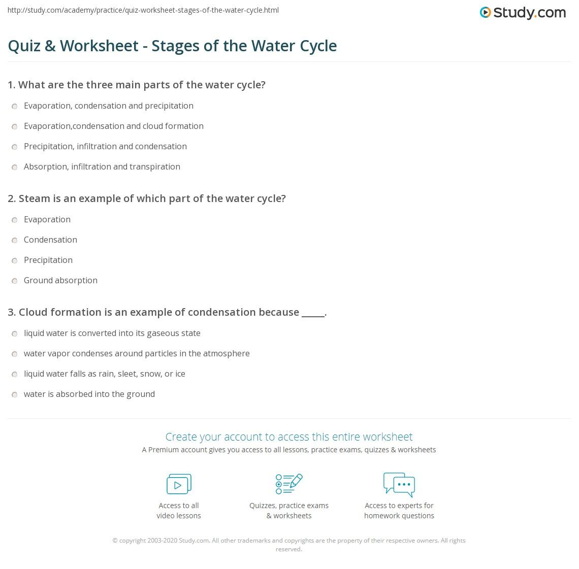 Worksheet Water Cycle Worksheet 2nd Grade Worksheet Fun