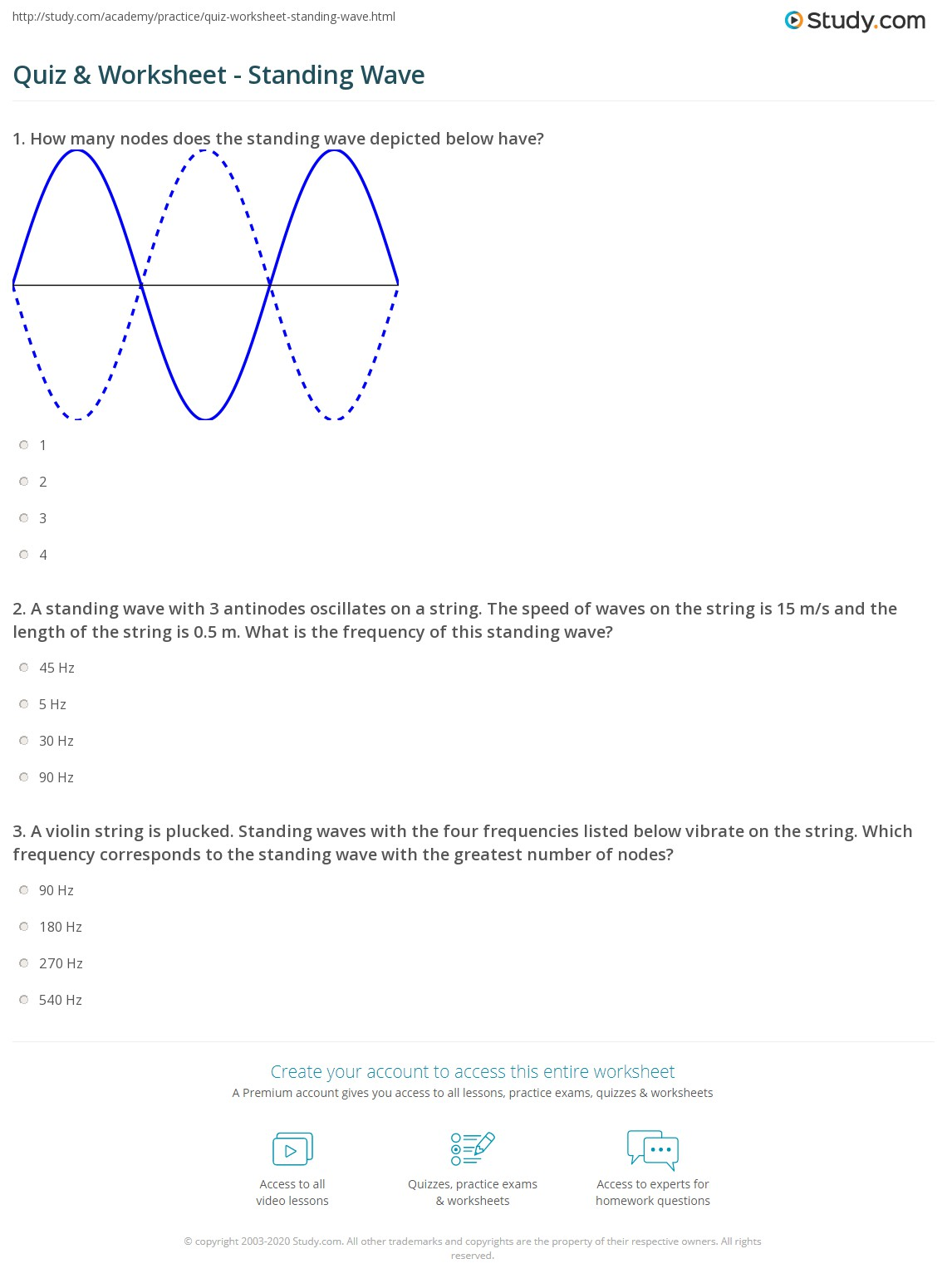 Math Skills Worksheet Wave Speed