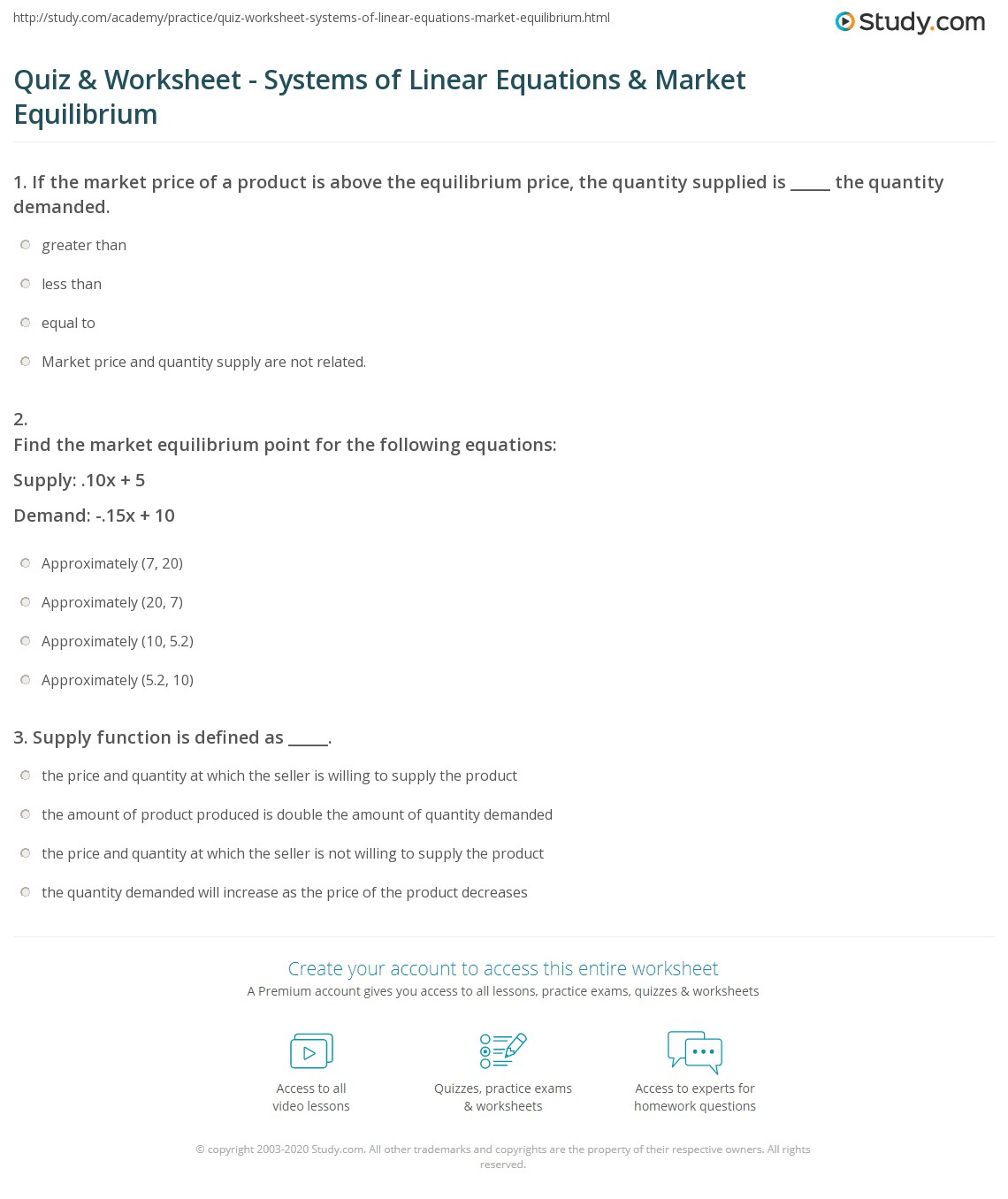 Equilibrium Calculations Worksheet