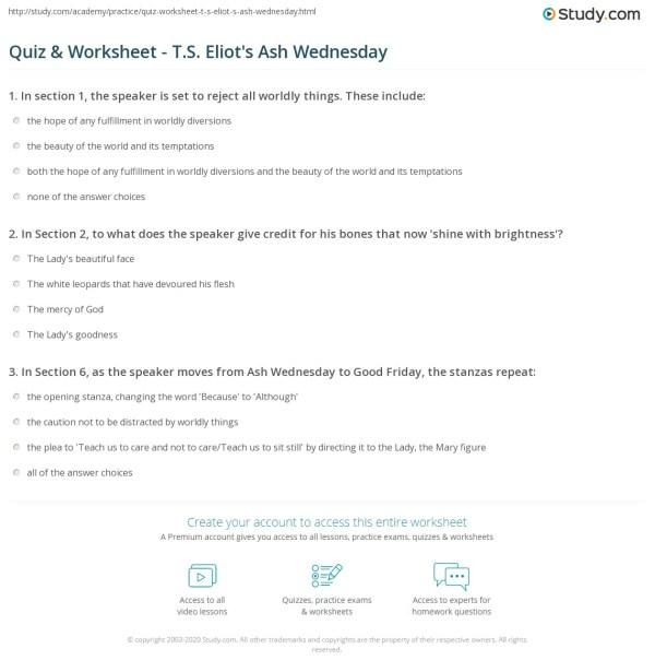ash wednesday eliot # 30