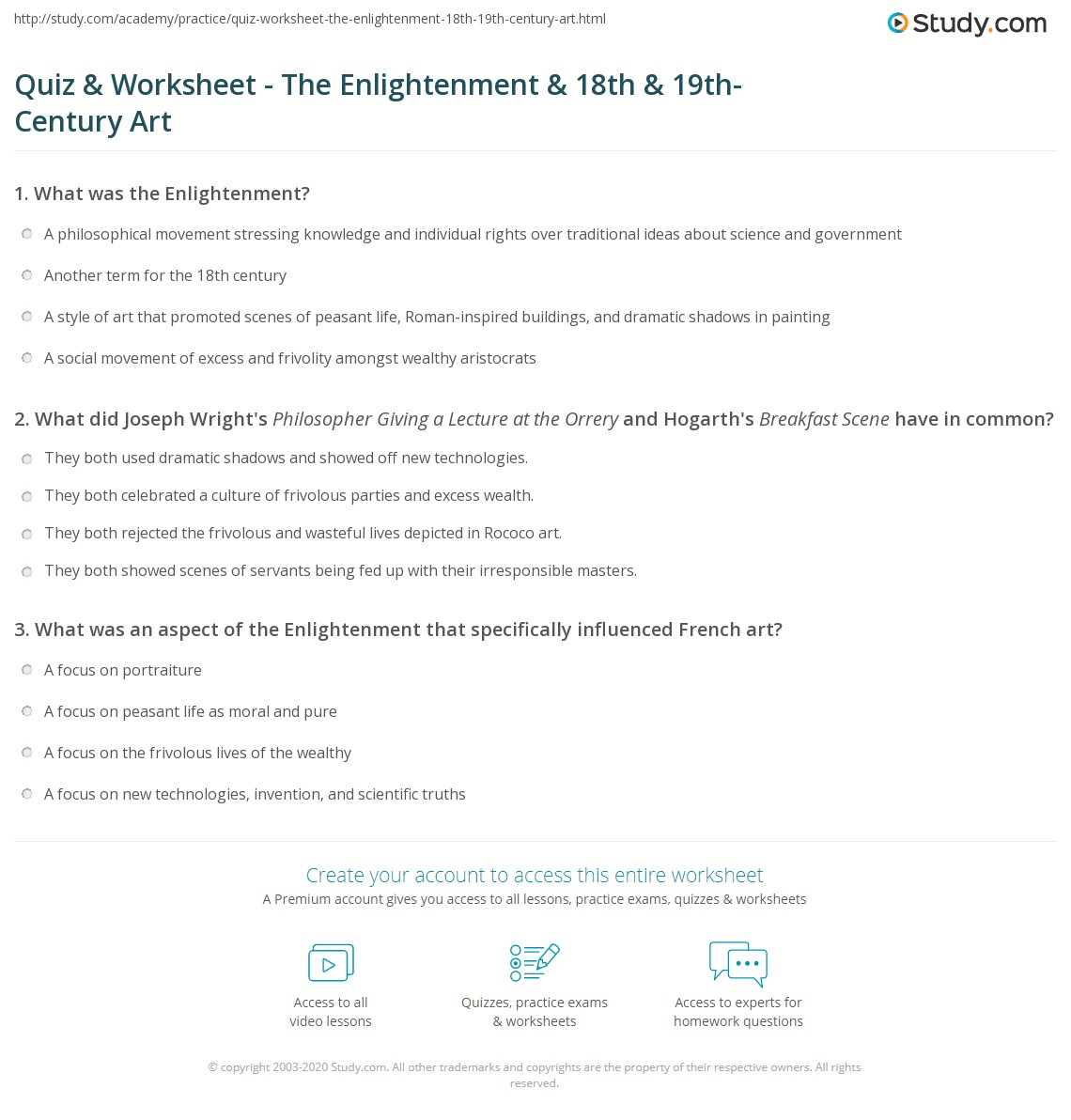 Enlightenment Worksheet Free Worksheets Library