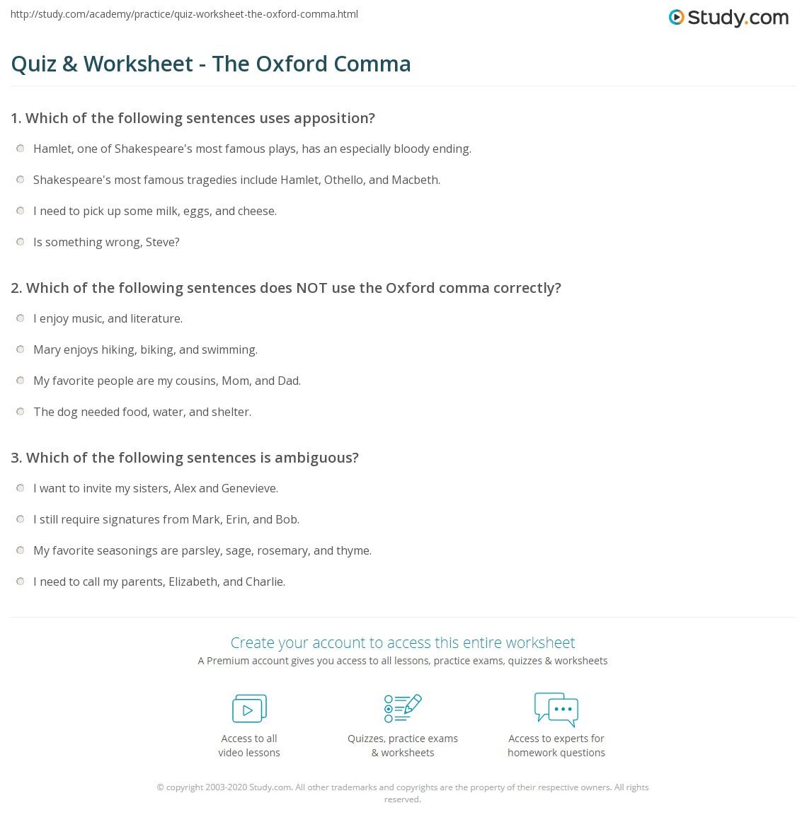 Worksheet Comma Worksheets High School Grass Fedjp Worksheet Study Site