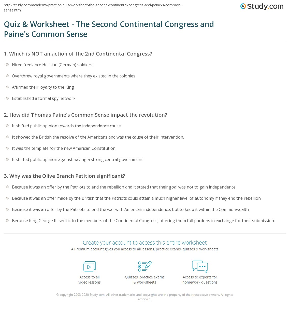 Worksheet Common Sense Tractor