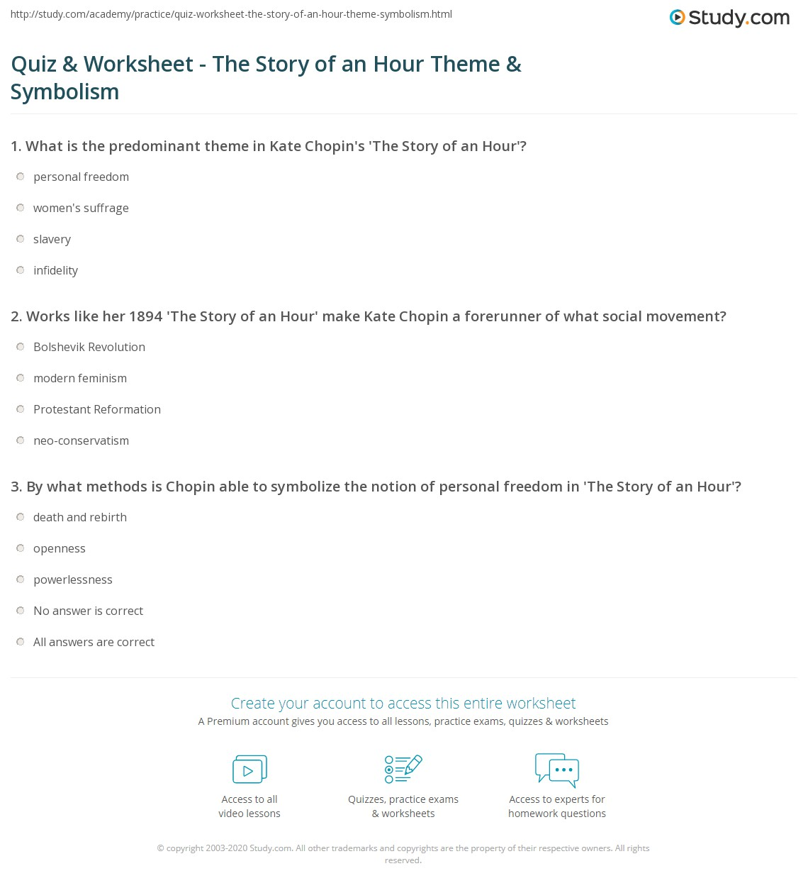 Literaryysis Essay On The Story Of An Hour