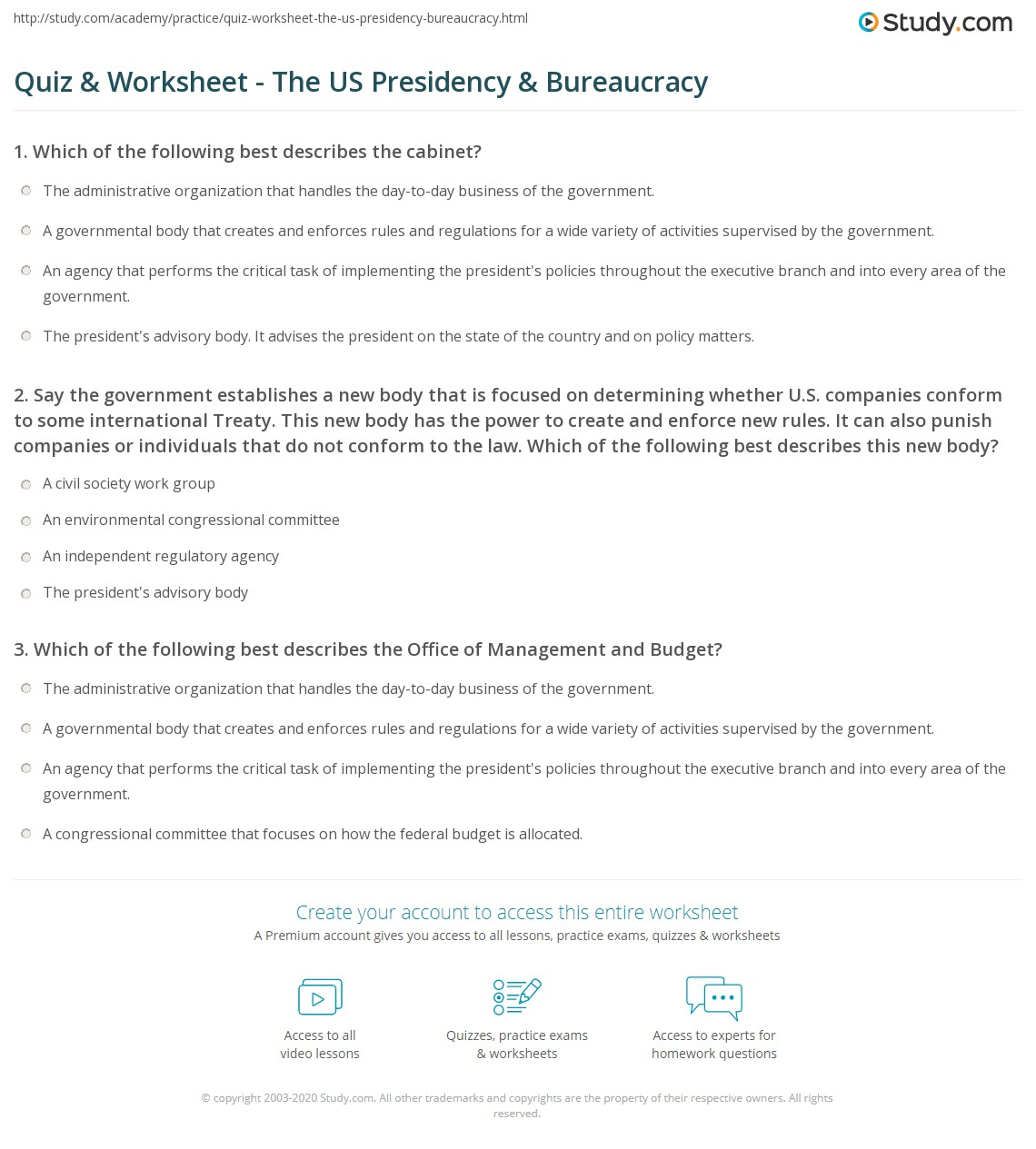 Worksheet Executive Branch Worksheet Grass Fedjp