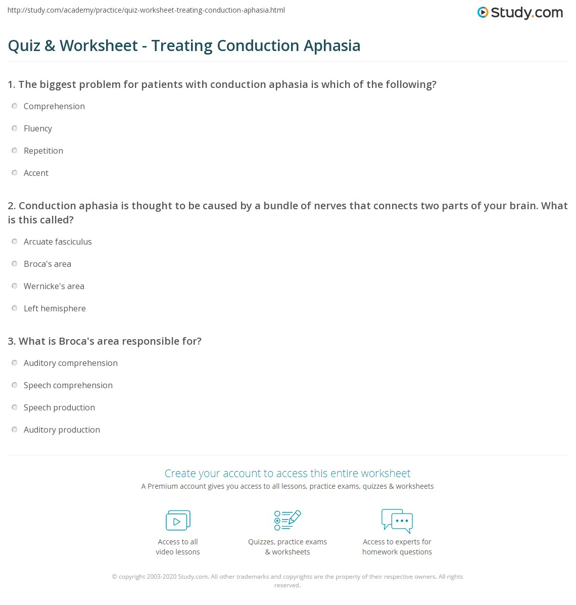 Worksheets Free Aphasia Worksheets Babyhunters Free