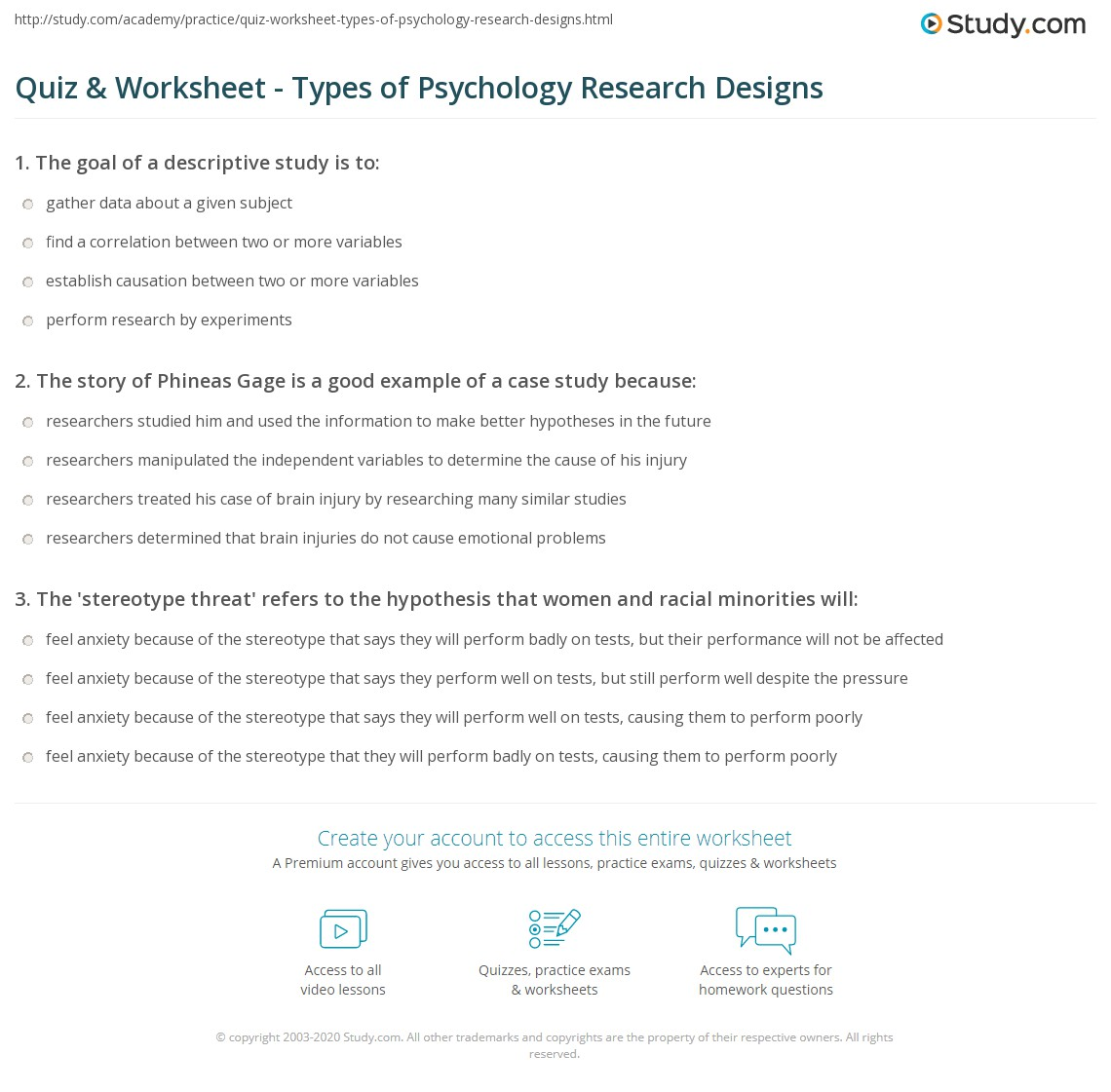 Free Psychology Case Study Examples