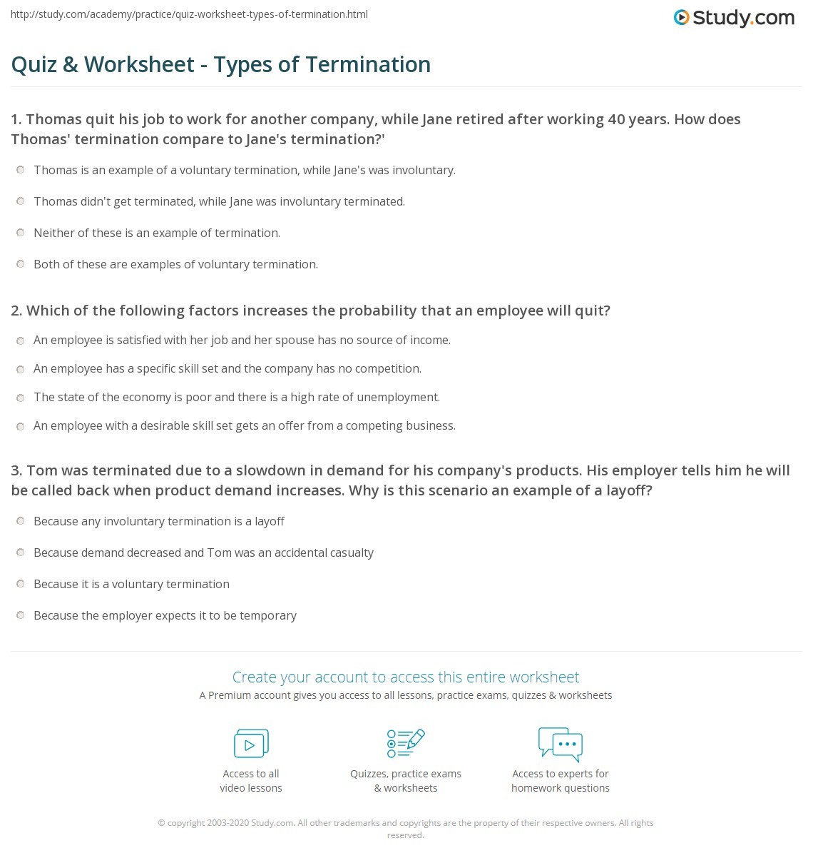 Types Of Unemployment Worksheet Answers