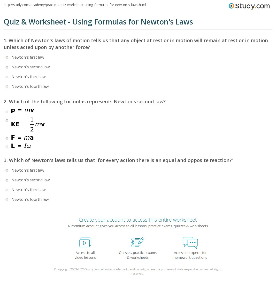 Worksheet Using Formulas