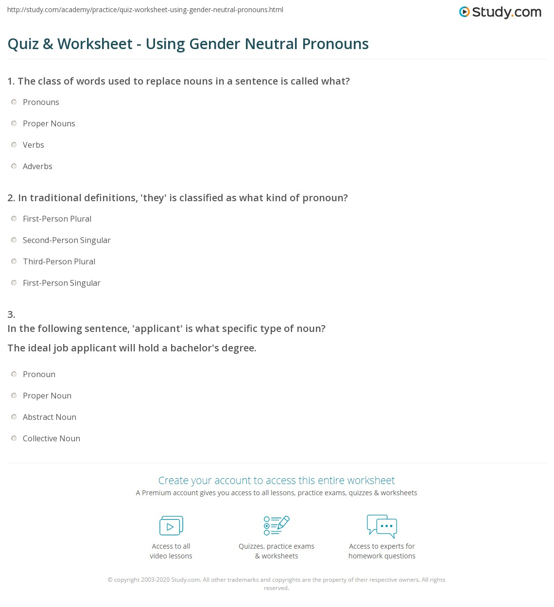 Gender Nouns Worksheets | Printable Worksheets and ...