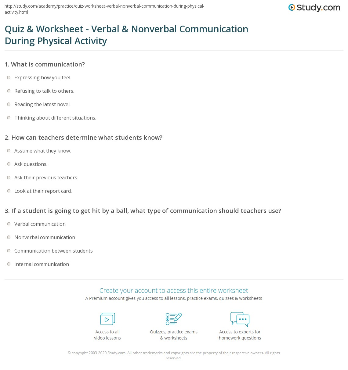 Printable Communication Worksheet For Adults
