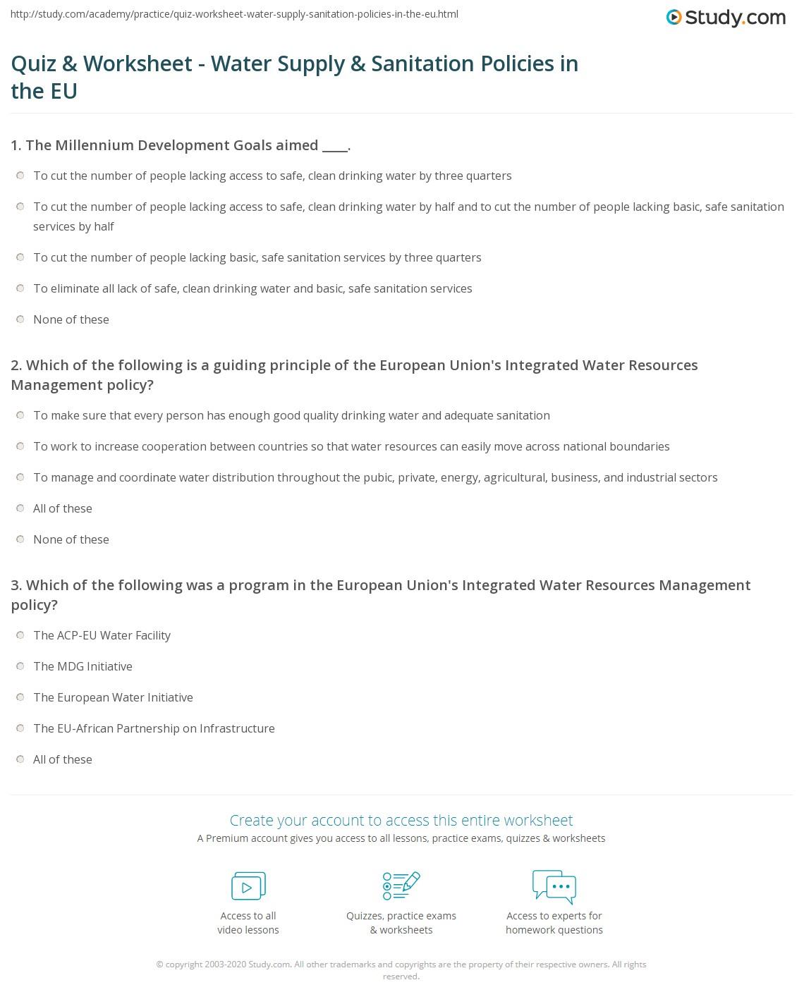 Worksheet Water Worksheet Worksheet Fun Worksheet Study Site
