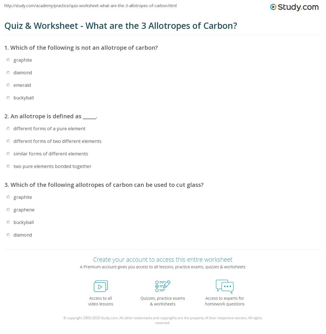 The Allotropes Of Carbon Allotropes Of Carbon 02 20