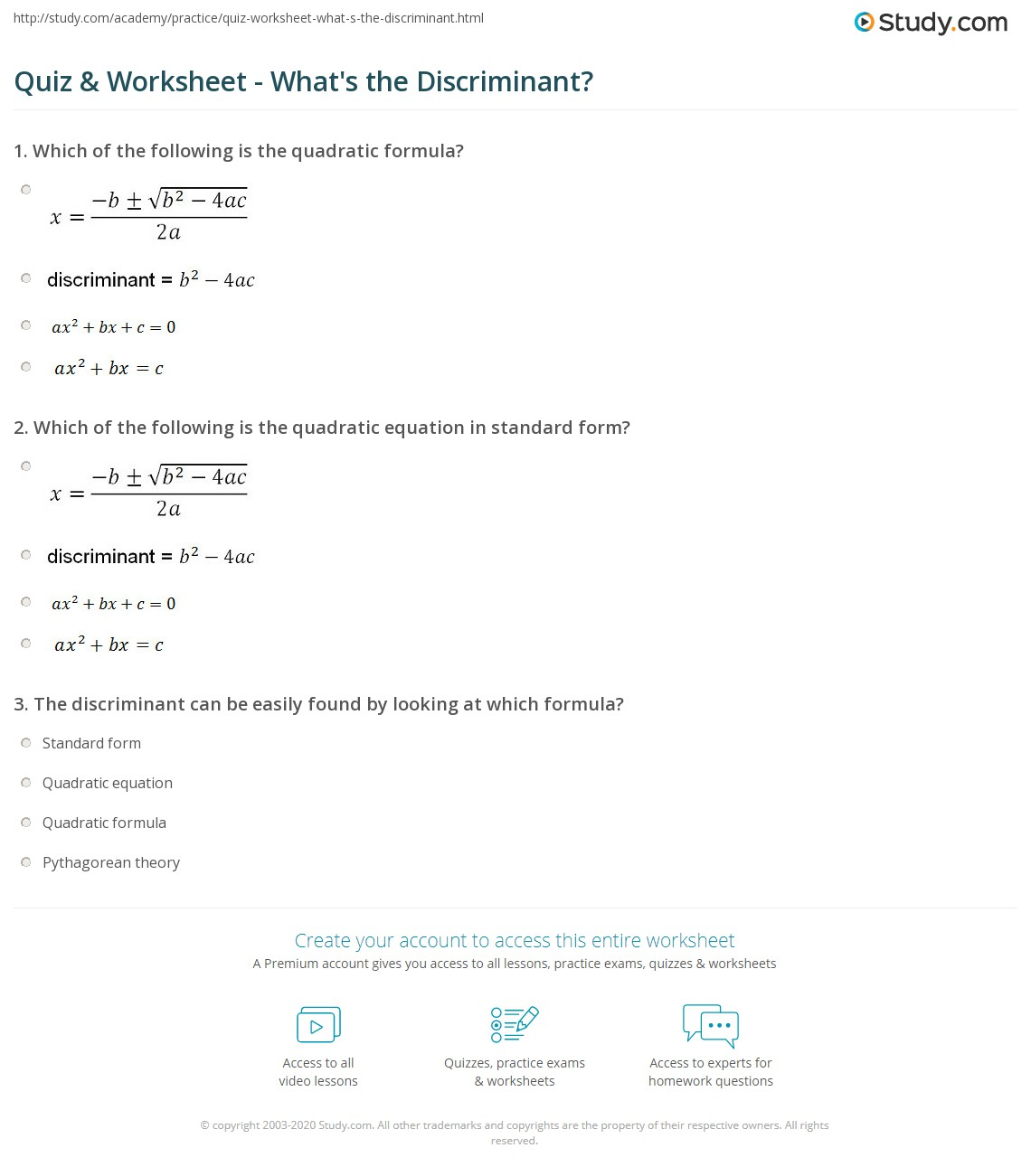 Quadratic Sequences Worksheet And Answers