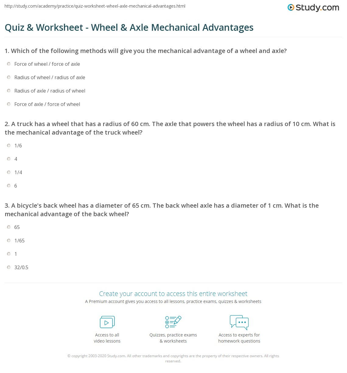Printables Of Mechanical Advantage Worksheet With Answers