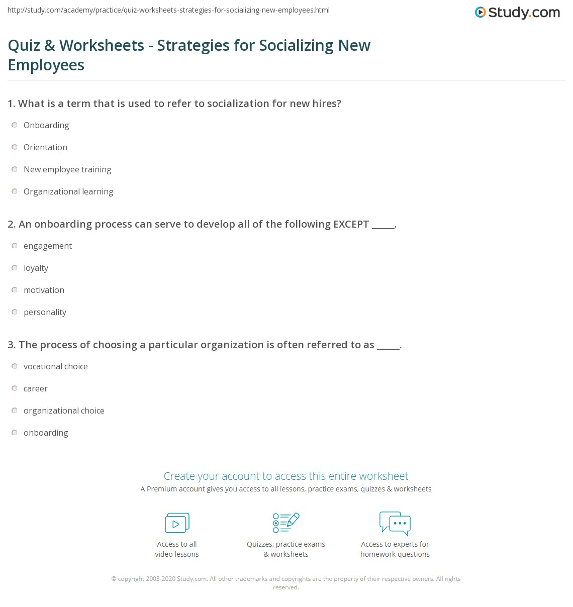 Quiz Amp Worksheets