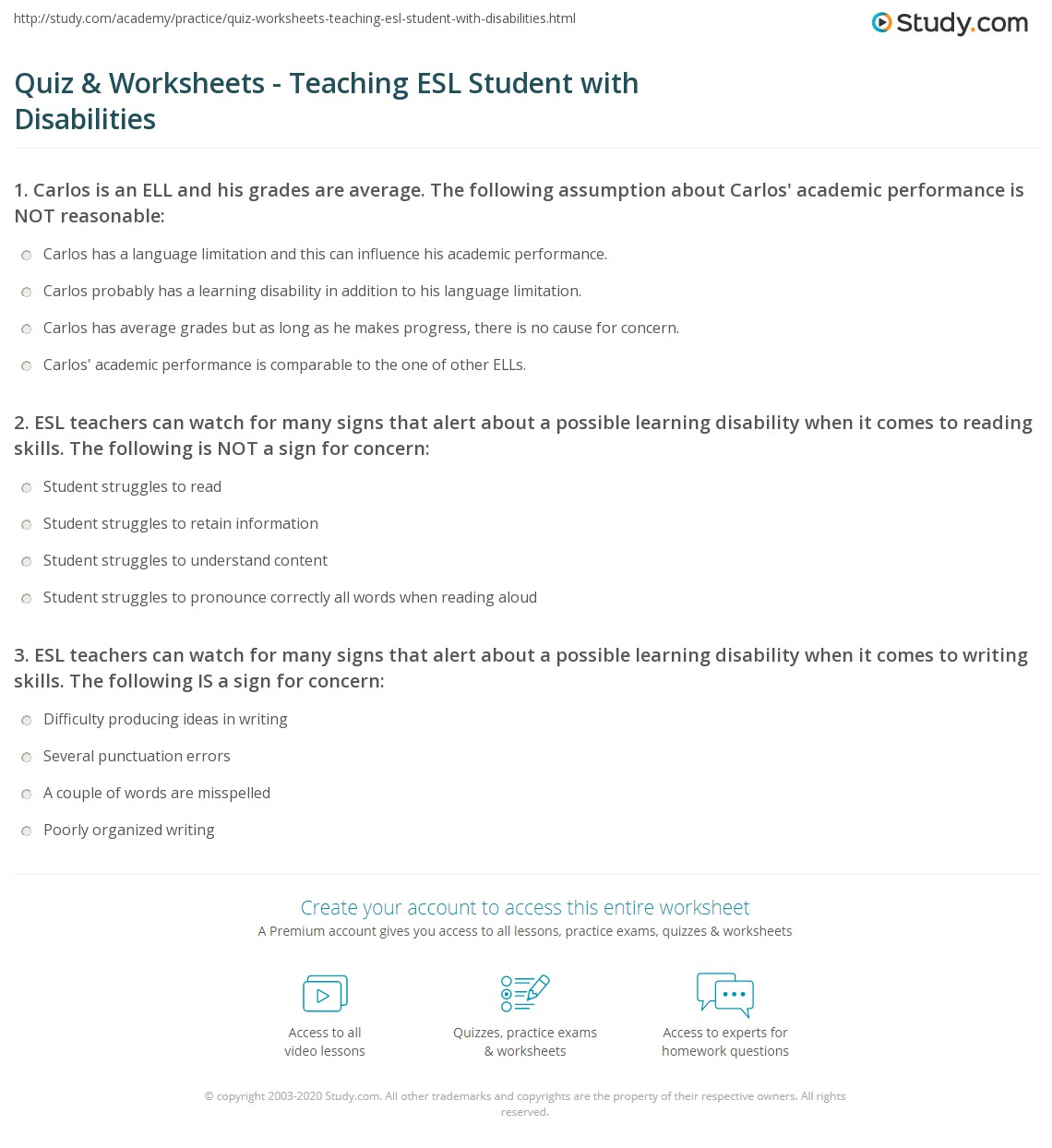 Quiz Amp Worksheets