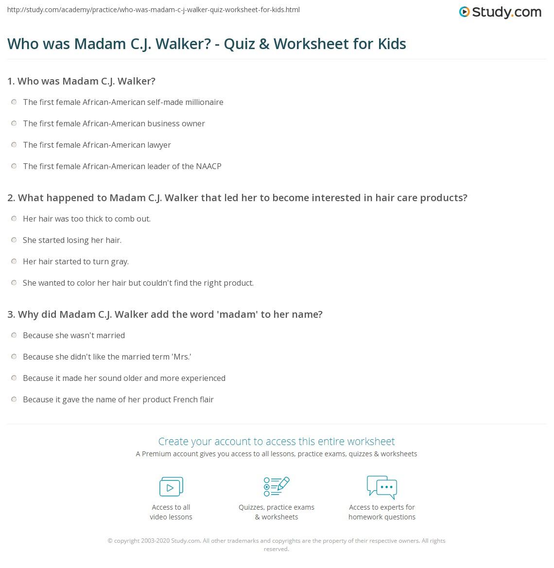 Who Was Madam C J Walker