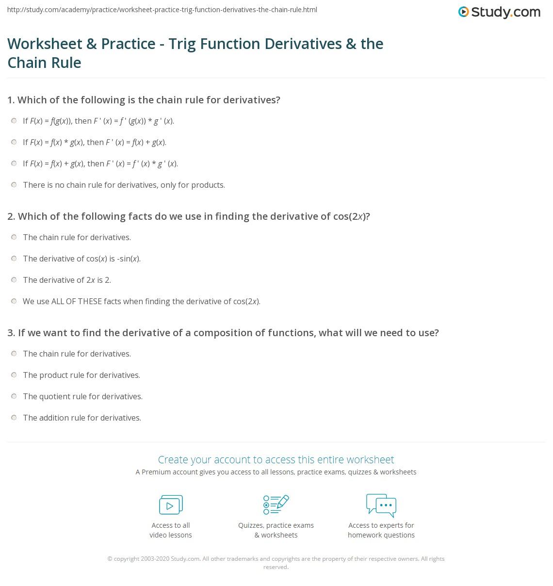 Worksheet Amp Practice