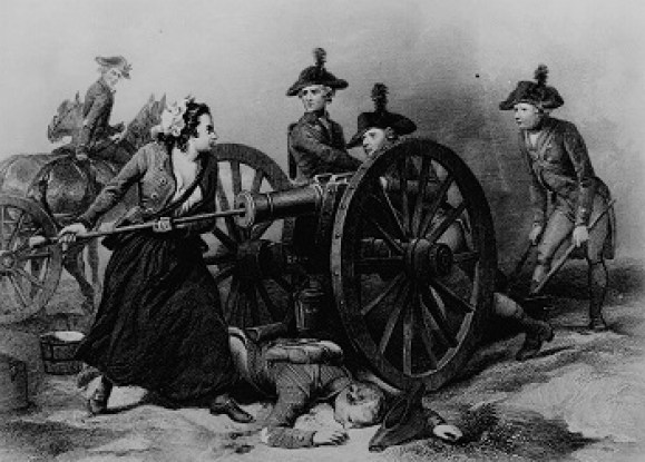 Picture of a woman on the battlefield