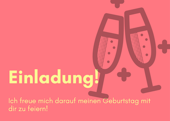 write a party invitation in german