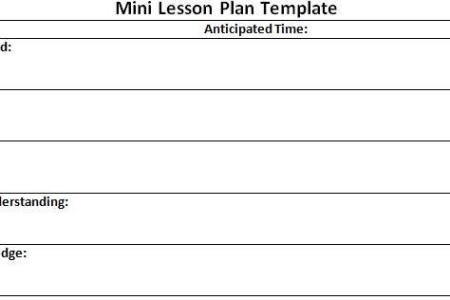 Free Resume 2018 » myp lesson plan template | Free Resume