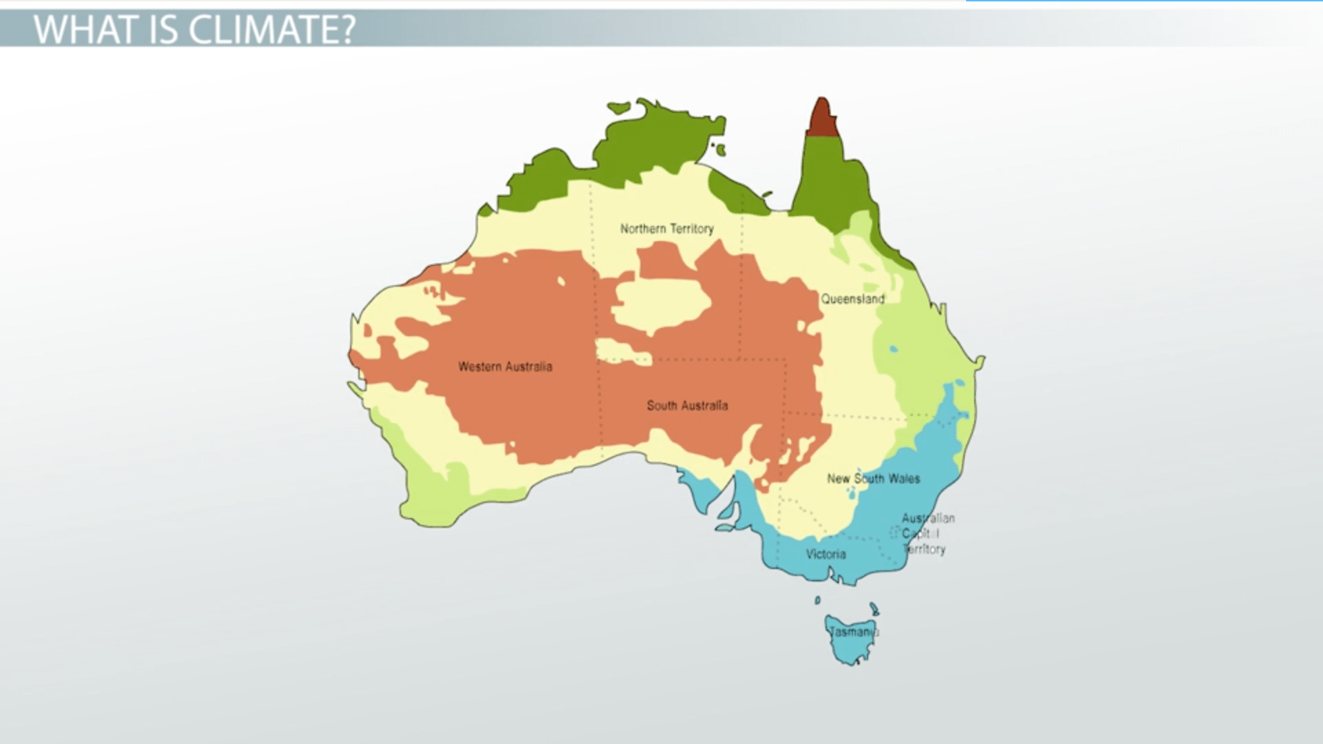 Major Climates Of Australia Amp The Pacific Islands