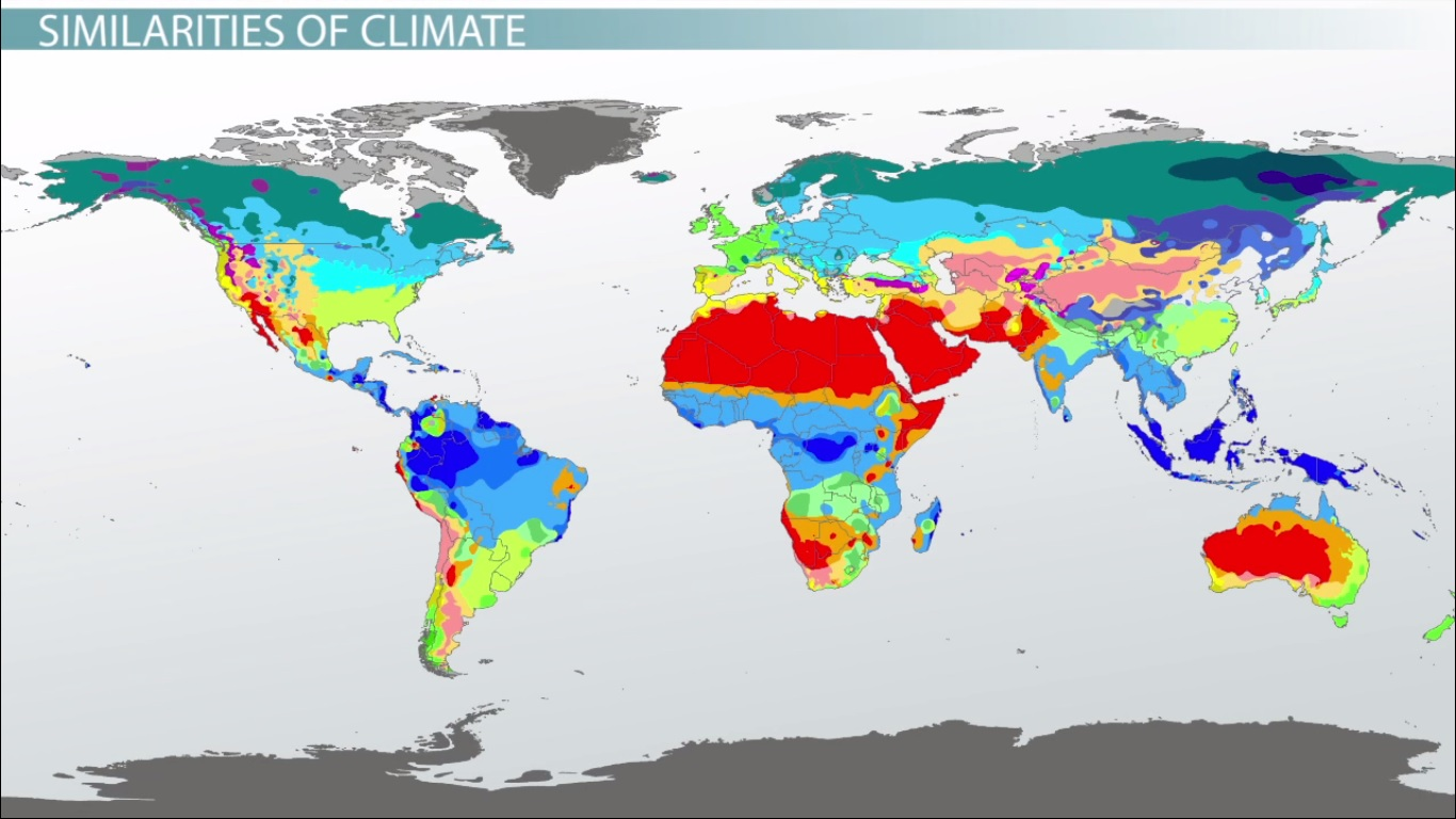 Major Climates In Africa Amp The Middle East