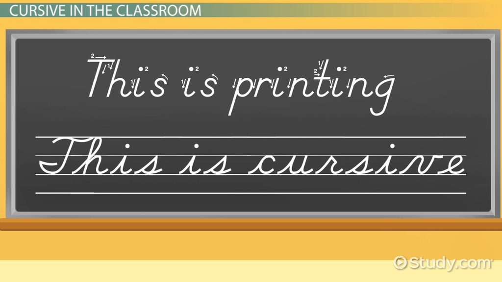 What Is Cursive Writing