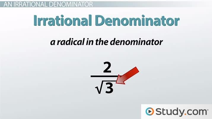 How To Rationalize The Denominator With A Radical