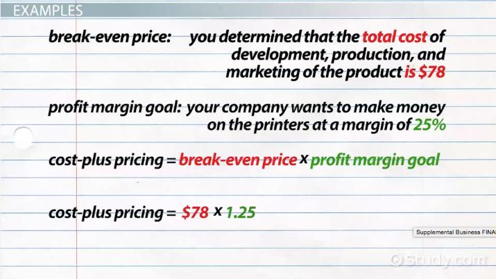 Cost Plus Pricing Definition Method Formula Examples