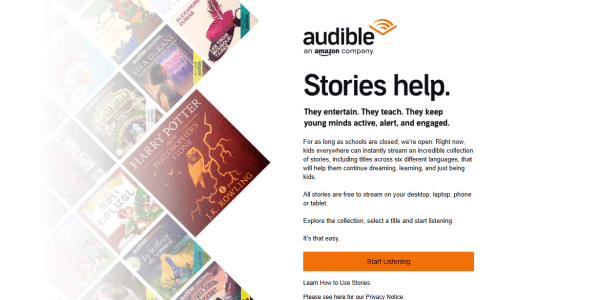 amazon audible free for children