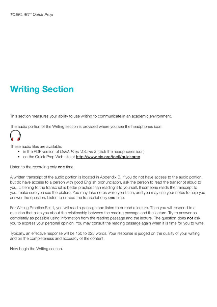 TOEFL Writing Practice