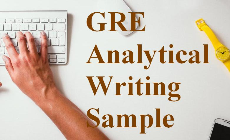 GRE Analytical Writing Sample
