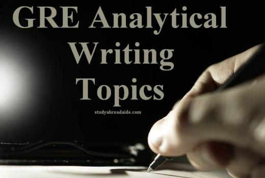 GRE Analytical Writing Topics