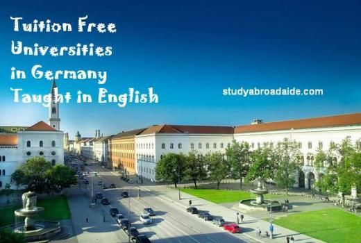 Tuition Free Universities in Germany Taught in English
