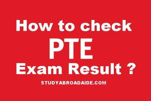 How to check PTE exam result