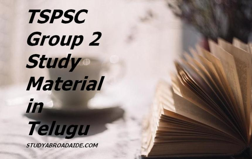TSPSC group 2 study material in Telugu