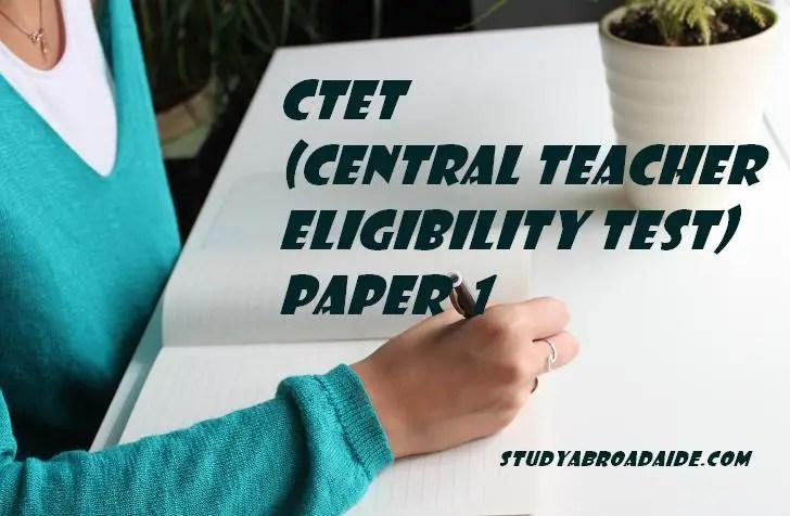 CTET Paper 1